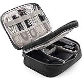 HUASUN トラベル ポーチ メンズ 二層式 旅行便利グッズ 充電器 ケース 出張 小物入れ 防水 収納ポーチ(ブラック)