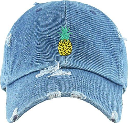 b8265e67 KBSV-024 MDM Pineapple Vintage Distressed Dad Hat Baseball Cap - Import It  All