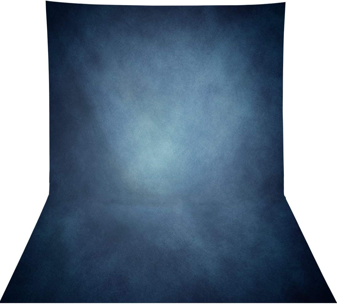 LUCKSTY Blue Abstract Old Master Backdrops for Photography 9x6FT Retro Texture Blue Background for Photographers Portraits Photography Backdrops Head Image LULF145