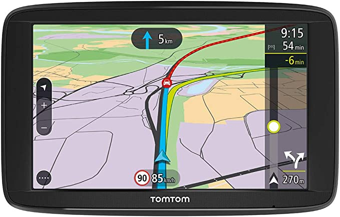 TomTom Car Sat Nav VIA 62, 6 Inch with Handsfree Calling, Traffic via Smartphone and EU Maps,Resistive Screen