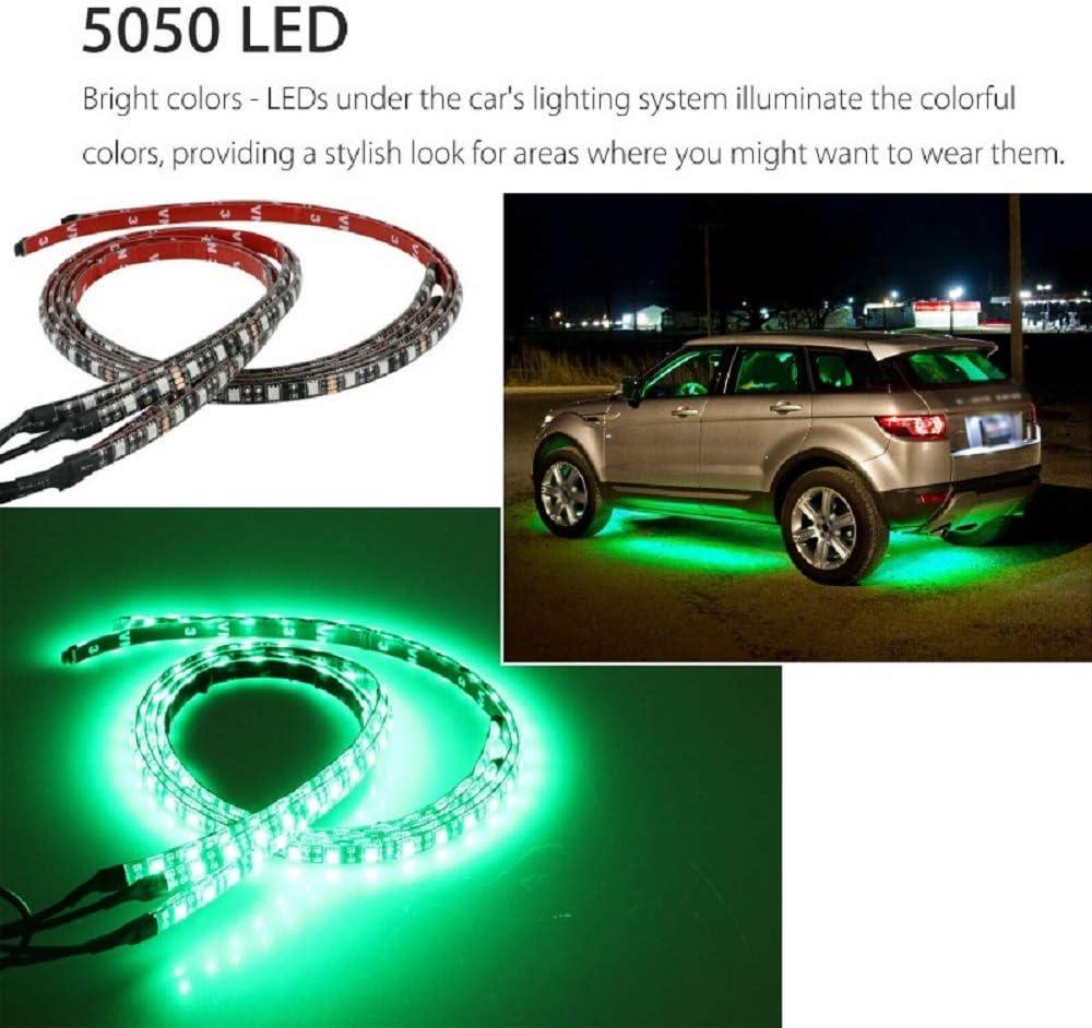 luz de ambiente Tira de luces LED para coche control de voz control de aplicaciones 4 unidades chasis barra de luz SUNWAN