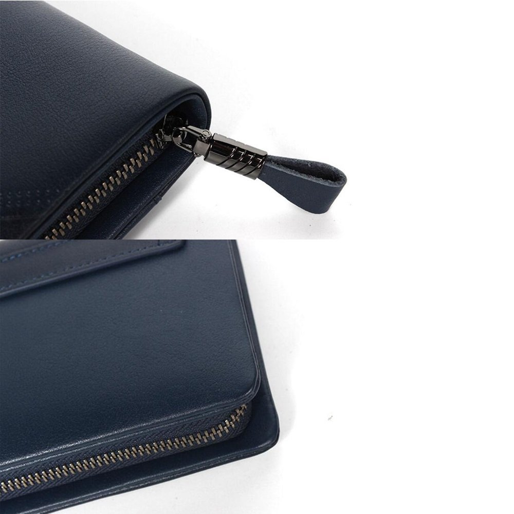 Leather Large Capacity Clutch JUNBOSI Mens Hand Bag Premium Soft Leather Business Mens Wallet