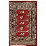 Pakistan Bokhara 2ply rug 2 #39;5 quot;x3 #39;10 quot; (74x116 cm) Oriental Carpet