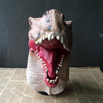 MYGB Mascaras de Halloween Máscara De Dinosaurio De Halloween, Máscara De Terror De Látex,