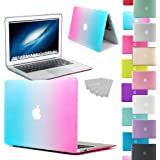 """LOVE MY CASE / NEW RAINBOW Rubberized See-Through Hard Case Cover for Apple MacBook Air 13-inch 13.3"""" (Models: A1369 / A1466) (Will NOT fit Pro models)"""