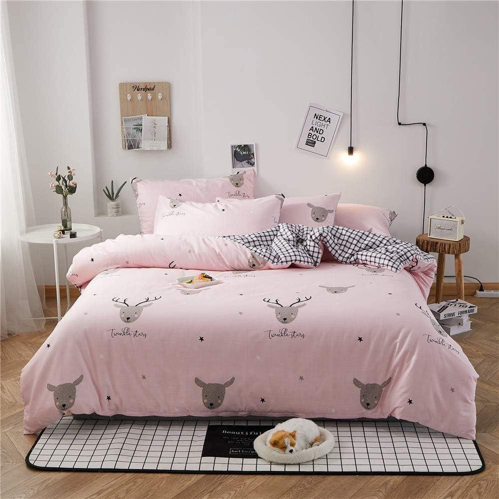 Amazon Com Christmas Deer Queen Bedding Set Plaid Teens Queen