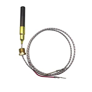 "750mv Thermocouple for Heat Glo Heatilator,Fireplace Thermopile Replacement Fireplace&Stove Accessories for Fire Gas Stoves Heat&Glo Gas Stoves Oven Water Heater&Frying Furnace (36"", Aluminum)"