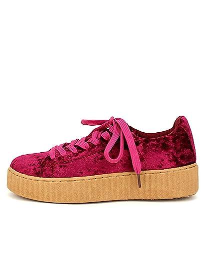super popular cute excellent quality Cendriyon, Basket Velours Bordeaux C'M Chaussures Femme ...