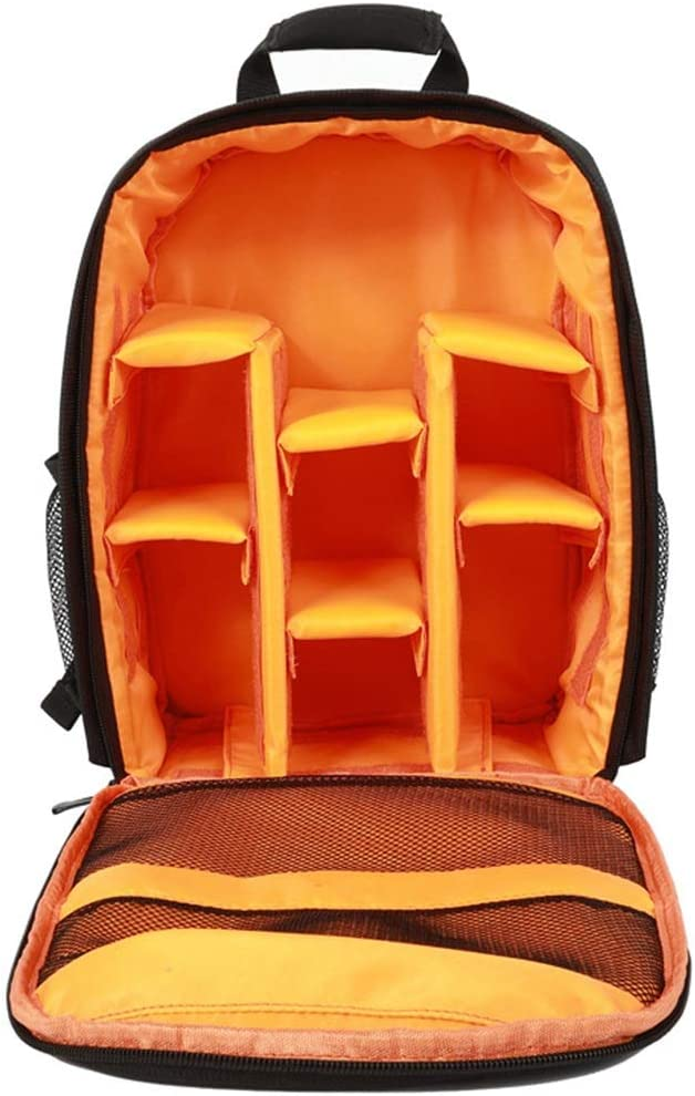 D5300 D7000 Hexiaoyi Photographers DSLR Camera Backpack Camera Bag for DSLR Cameras EOS and for D7100 D5000 Color : Orange D3200 /& D3100 D5100