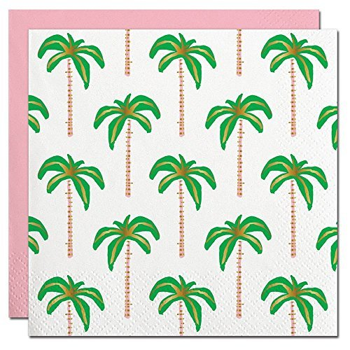 (Slant Collections Gold Foil Palm Trees Beverage)