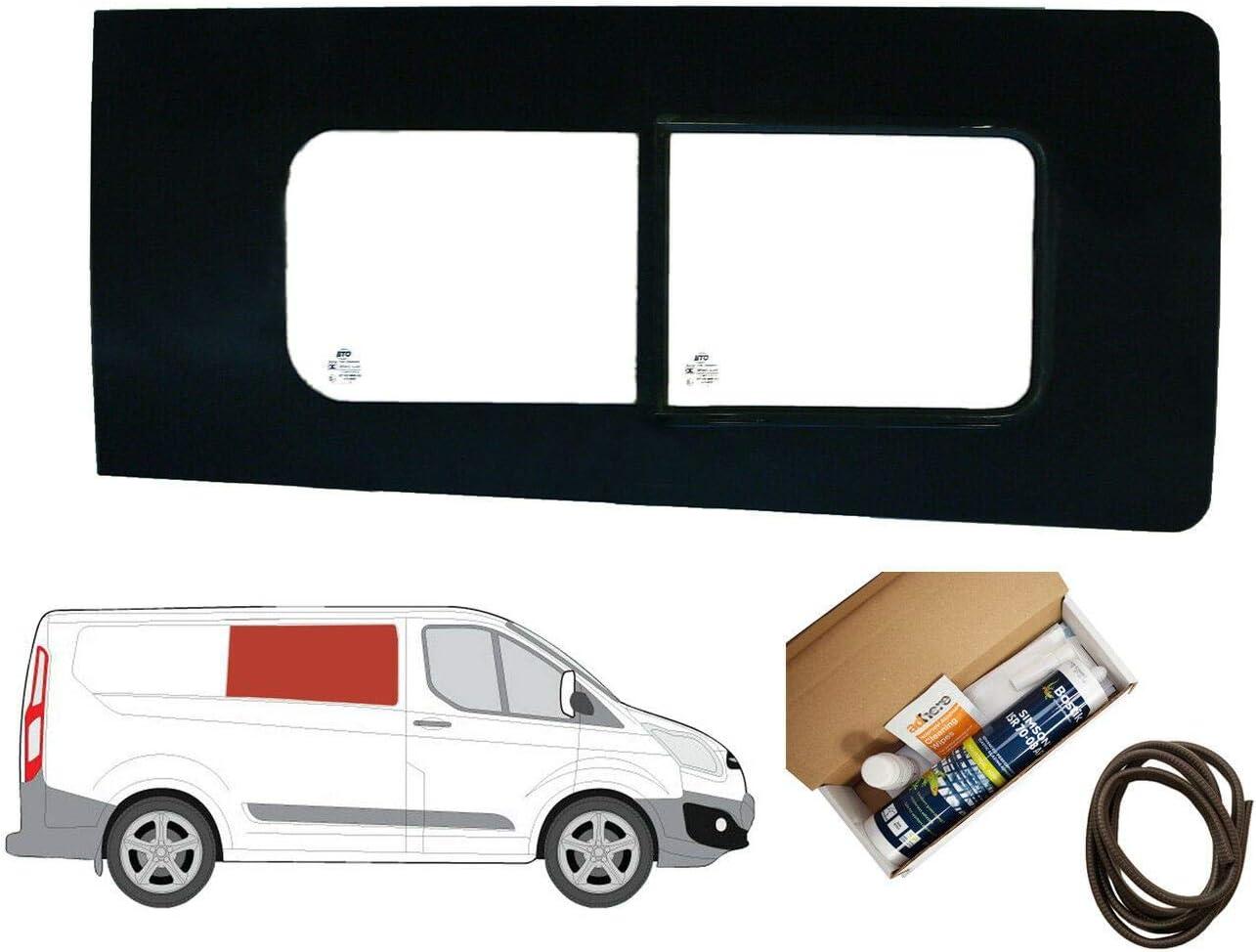 Mano derecha ventana de apertura transparente para Panel lateral OPP. Puerta Corredera Kit Ford Transit Custom: Amazon.es: Coche y moto