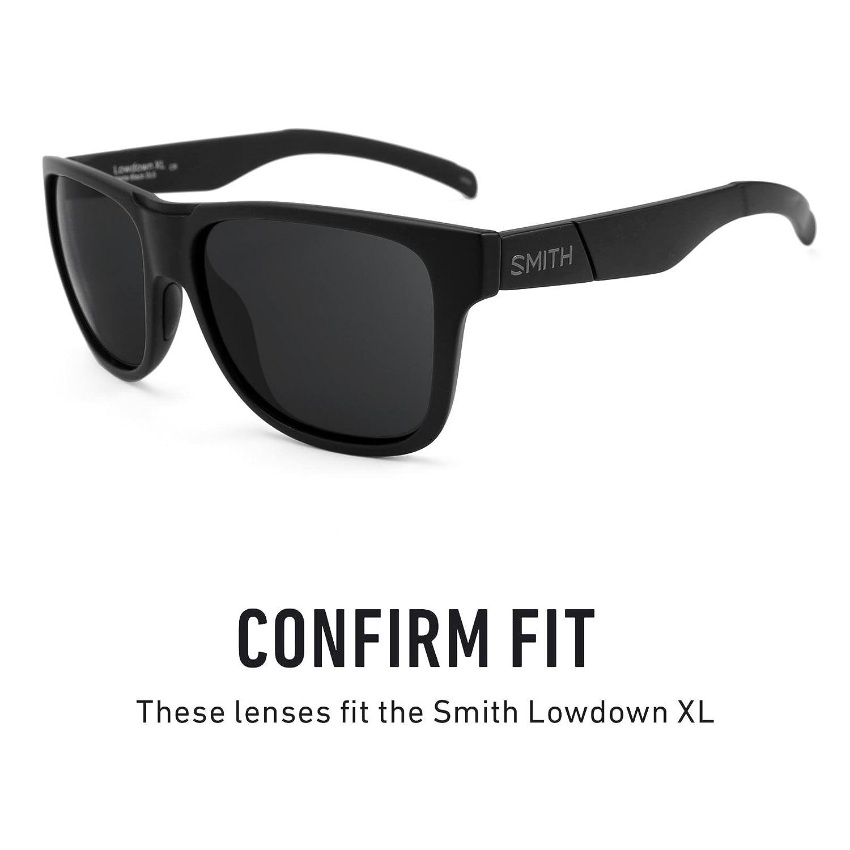 279dbe65ca Amazon.com  Revant Polarized Replacement Lenses for Smith Lowdown XL Elite  Black Chrome MirrorShield  Sports   Outdoors