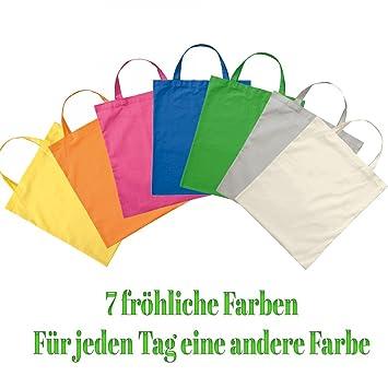7 STK. Premium algodón bolso bolsa de tela bolsa bolso de ...