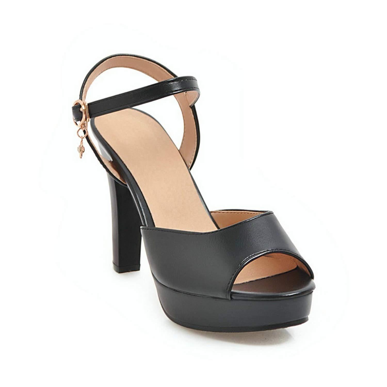 END GAME Dress Shoes high Heel Sandals Woman asual Summer Women Shoes Pink Black White Large Size 43,Black,8