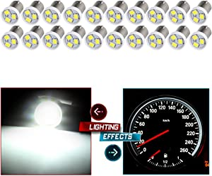 cciyu BA9S 2835-3-SMD Instrument Panel Gauges Clock Ash Tray Light Bulb 53 57 216 293 Fits Replacement fit for 1974 Volvo/Pontiac/Plymouth/Oldsmobile/Buick,20Pack