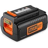 Energup Upgraded Replacement 2500mAh 40 Volt MAX Battery for Black and Decker 40V Battery LBX2040 LBXR36 LBXR2036 LST540…
