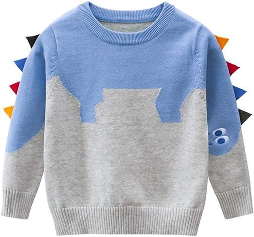 Toddle Boys Originality Cartoon Dinosaur Pullover Sweater Kids 18M-6T