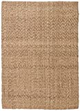 Stone & Beam Contemporary Textured Jute Rug, 8' x 10', Tan