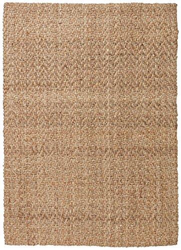 Stone & Beam Contemporary Textured Jute Rug, 8' x 10', Tan by Stone & Beam