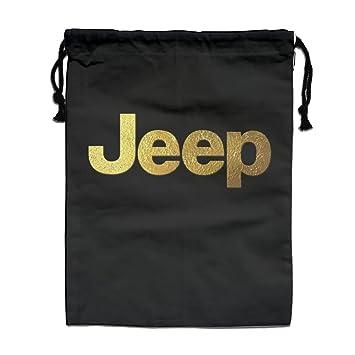 ジープ自動車ロゴ シンボルマーク 日本ブランド 巾着袋 収納袋 マルチバッグ シューズケース 収納
