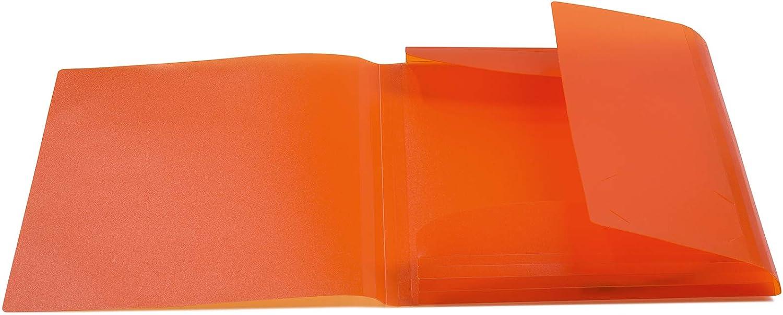 HERMA 19500/ plastica trasparente DIN A3 Dunkelblau /Cartellina con con elastici di gomma 1/pezzi