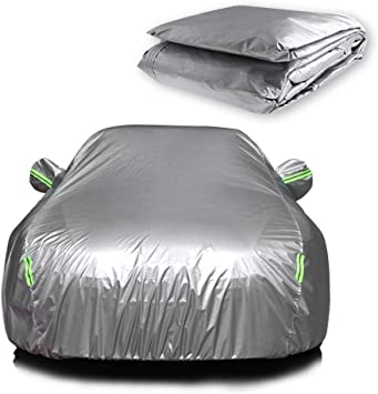 INEEDUP Universal SUV//Sedan Full Car Covers Outdoor Waterproof Sun Rain Snow Protection UV Car Umbrella Silver Auto Case Cover For Vehicles Up To 210inch
