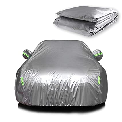 87f78f98aea3 ECCPP Universal Car Cover 100% Breathable 190T Polyester Waterproof Frost  Resistant Cover Open With Zipper
