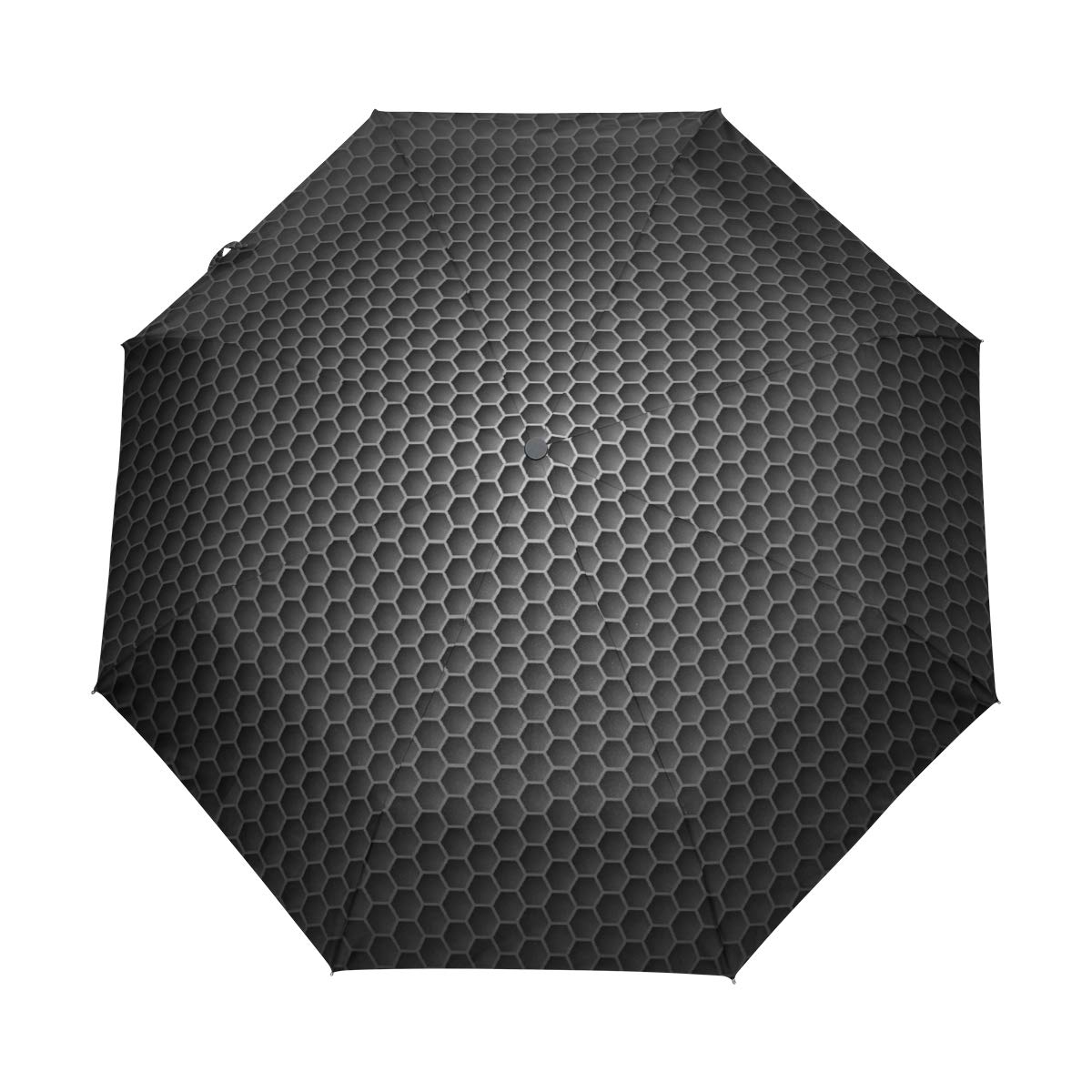 Wave ブラック ホワイト 自動折りたたみ傘 UV保護 自動開閉 折りたたみ式 防風 日よけ 旅行 ビーチ レディース キッズ 10.5 In x 5 In x 12.5 In グレー FV-007 B07G8M4VKY パターン2