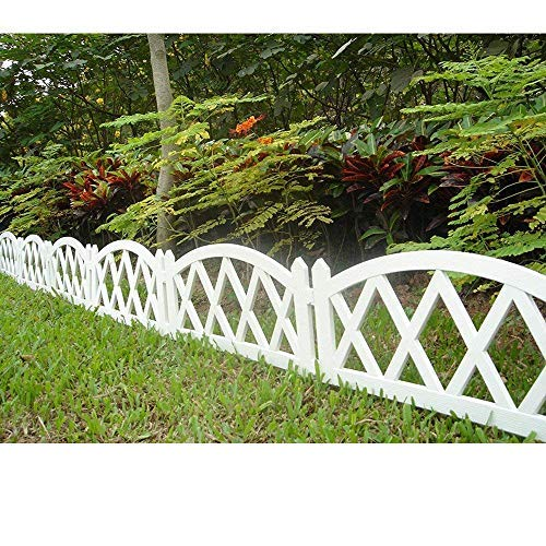 Worth Garden Plastic Fence Pickets Indoor Outdoor Protective Guard Edging Decor - Edging Fencing Garden