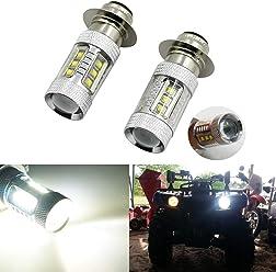 2x 80W Xenon White High Power H6 LED Headlights Bulbs Fit For Honda CRF 250X 450X