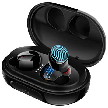 Wireless Earbuds Bluetooth 5 0 Touch Control True Wireless Earbuds with  3500mAh Charging Case 100H Playtime Stereo Hi-Fi Sound Waterproof IPX8  in-Ear