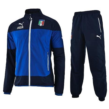 pretty nice b93e2 c7941 TUTA PUMA FIGC ITALIA 14 JUNIOR BLU/AZZ 14A: Amazon.it ...