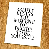 Best Wall Photos Of Beauties - Beauty Quote Print (Unframed), Stylish Wall Art, Make Review