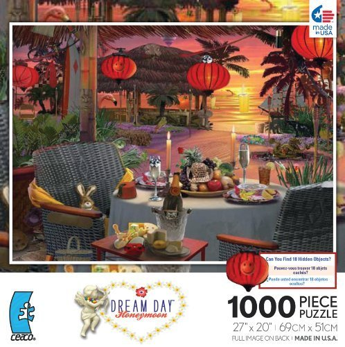 Dream Day Honeymoon Dinner for for for Two 1000 Piece Jigsaw Puzzle by Ceaco (English Femmeual) | La Mode De  0ba712