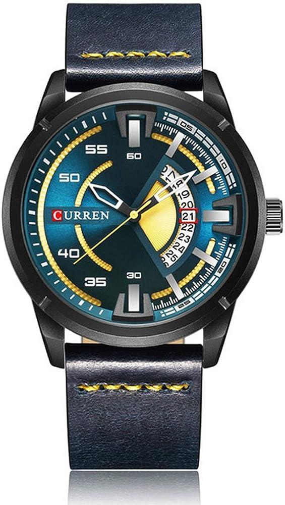 CURREN Original Good Quality Men s Sports Waterproof Date Leather Strap Wrist Watch 8298