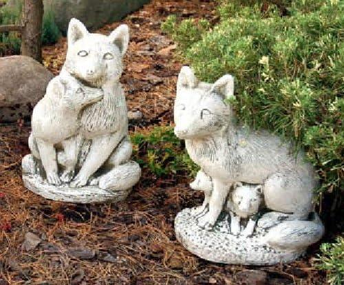 Zorro con niños Set (S501 + S504) Jardín figuras Estatua de piedra 45 cm: Amazon.es: Jardín