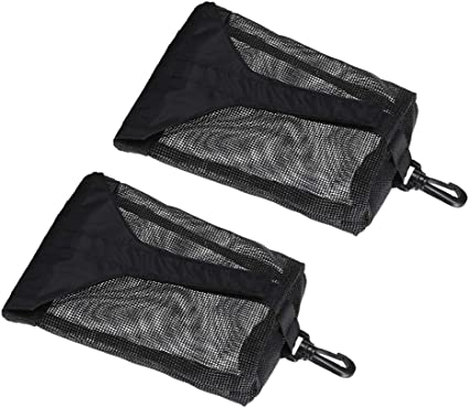 Black CUTICATE 2 Pieces Scuba Diving Weight Pocket Belt Pouch Holder Case for Water Sports Accessories Storage and Carry Mesh Pouches