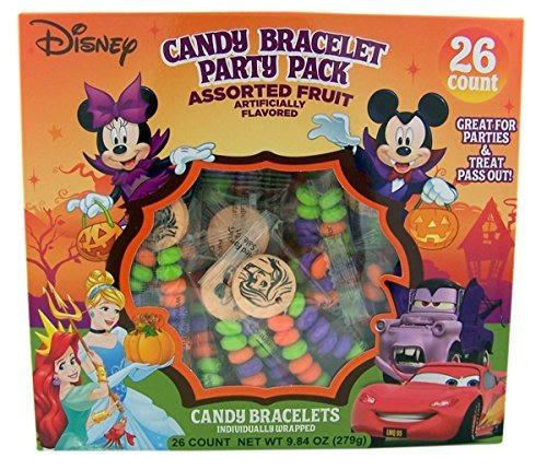 Disney Candy Bracelets Halloween Party Pack, 26 Count
