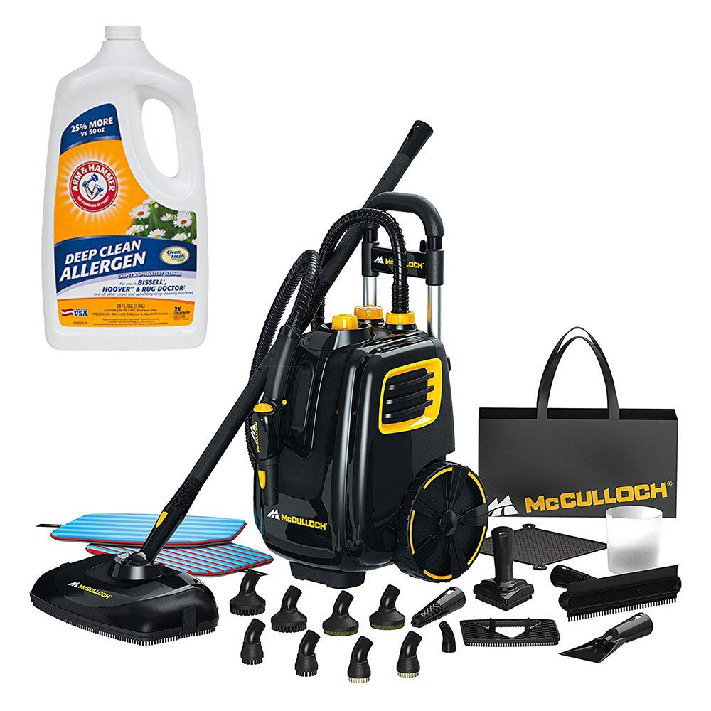 McCulloch Deluxe Canister Multi-Floor Steam Cleaner System w/Carpet Cleaner