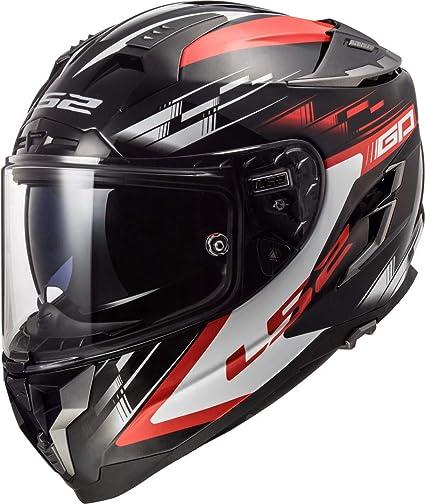 Amazon.es: Casco de Moto LS2 FF327 Challenger GP Negro Rojo, Negro y Rojo, M