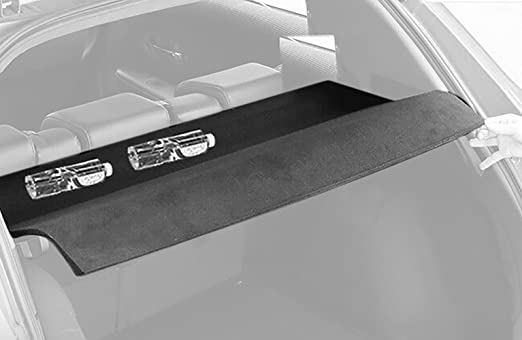 caartonn Cargo Cover for 2016 2017 2018 Honda HRV HR-V hrv Black Rear Trunk Luggage Security Shade Shield by (Can be folded and withstand the load)