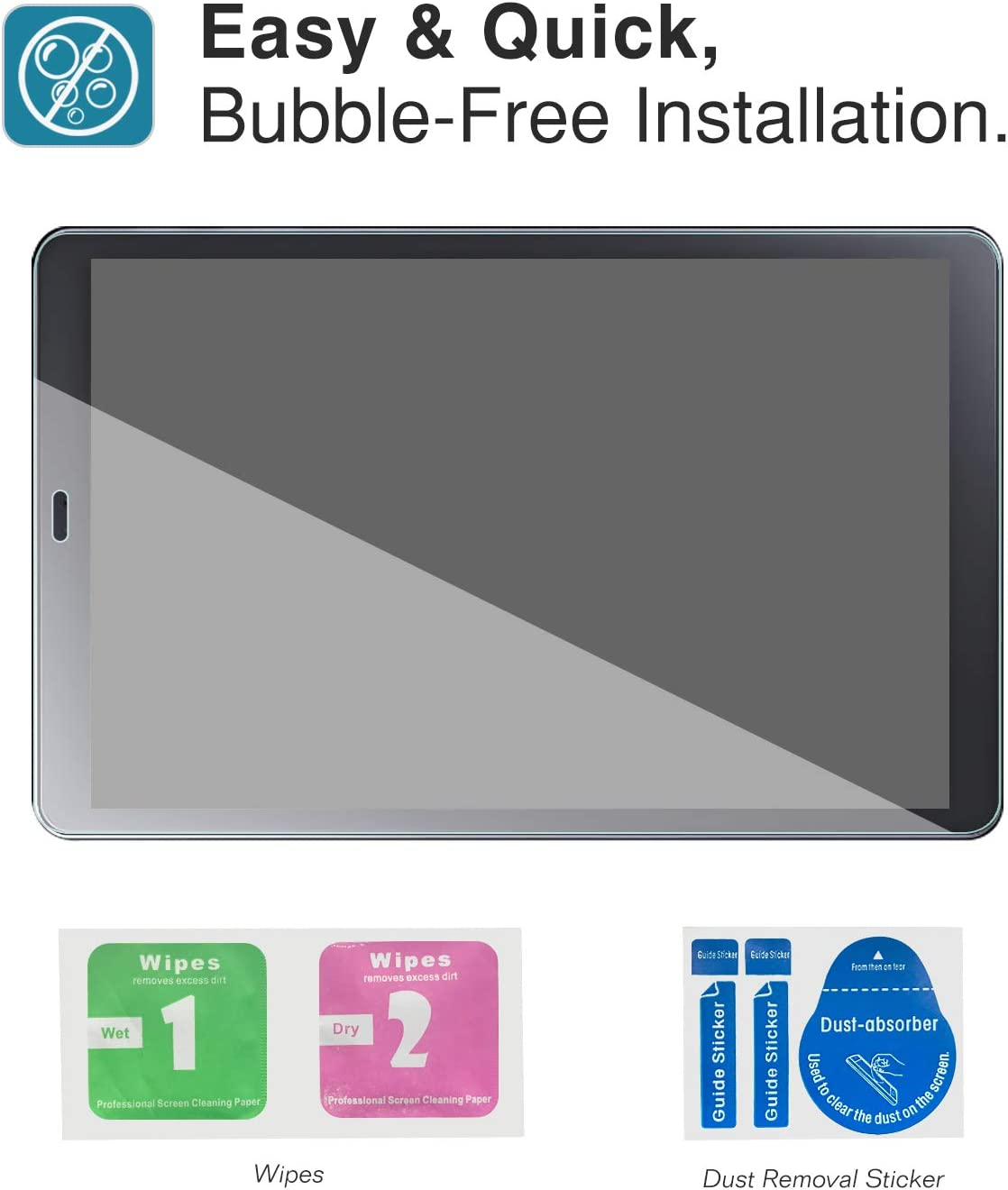 Scratch Terminator Ultra Clear Hardness Tempered Glass Screen Protector Anti-Scratch Film for Samsung Galaxy Tab A 10.5 Inch Tablet Clear MoKo Screen Protector for Samsung Galaxy Tab A 10.5