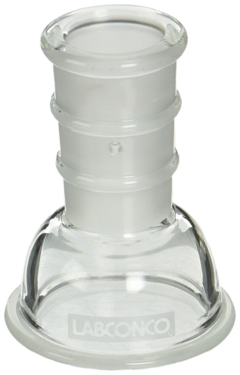 Labconco 7552000 Borosilicate Glass Lyph-Lock Flask Top for 25ml and 50ml Flasks, 19/38 Standard Taper Joint