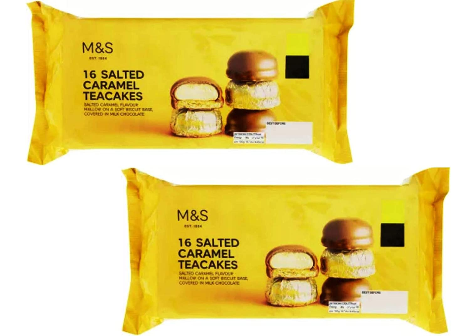 Marks And Spencer 32 Salted Caramel Teacakes 16 X 2 Packs Tea Cakes 2 X 280g Ms Food