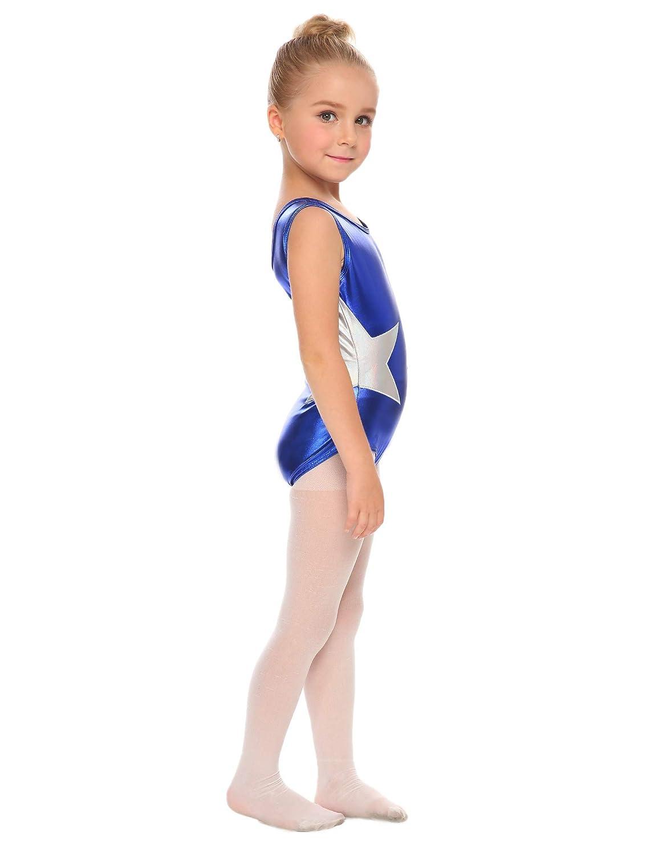 f97bd0a78 Amazon.com  Arshiner Girls  Gymnastics Solid Sparkle Leotard One ...