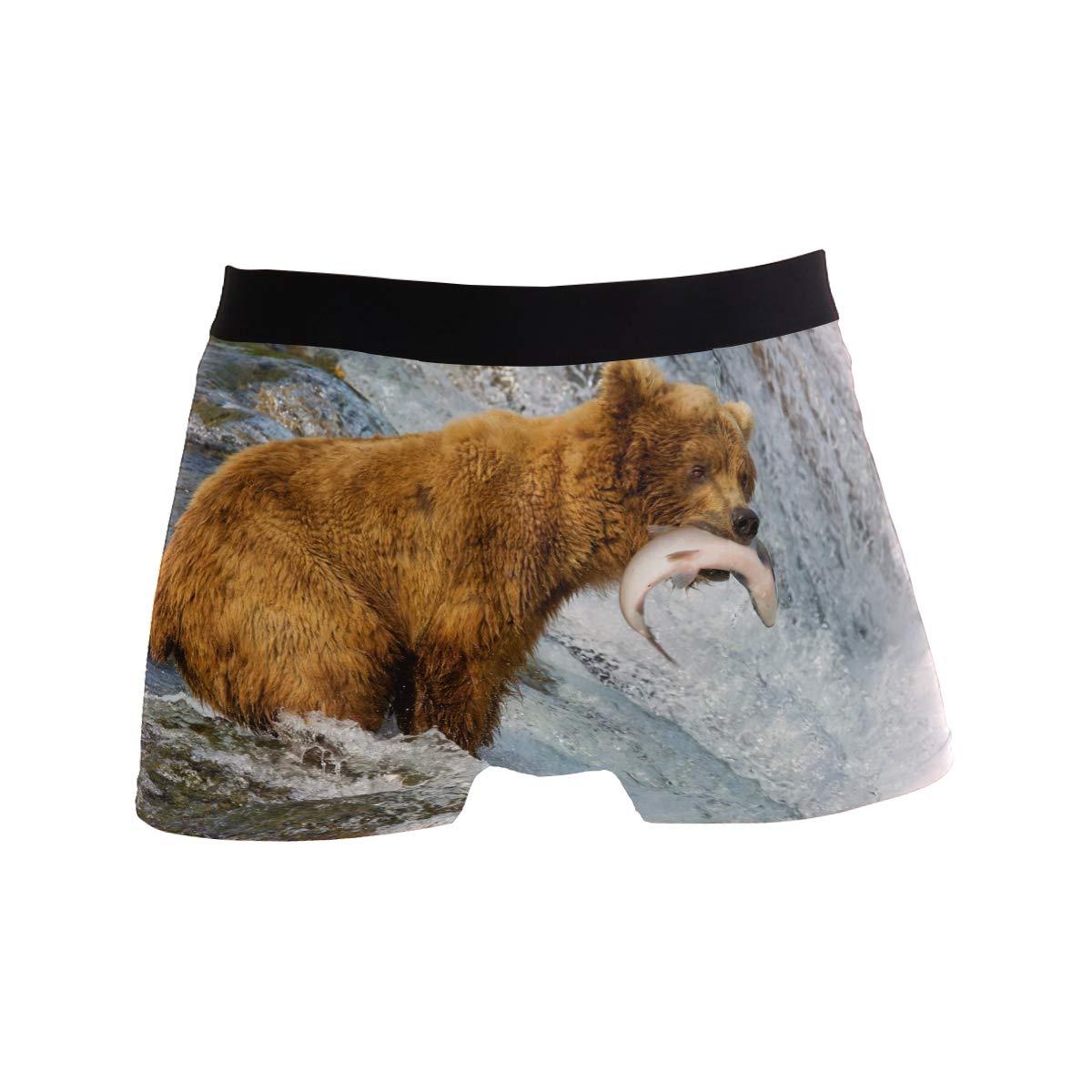 ZZKKO Bear Snow Mens Boxer Briefs Underwear Breathable Stretch Boxer Trunk with Pouch S-XL