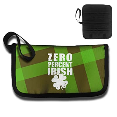 0 Percent Irish Travel Wallet Passport Holder Document Organizer