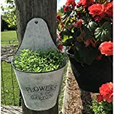 Farmhouse Wall Pocket Planter - Galvanized Rustic