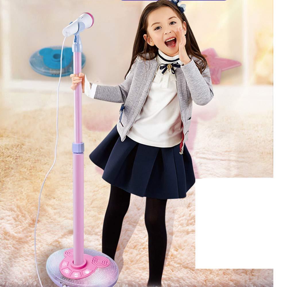 YuHuaFUShi Kids Karaoke Machine, Microphone with Adjustable Stand Singing Karaoke Machine for Toddler Girls (Pink) by YuHuaFUShi (Image #6)