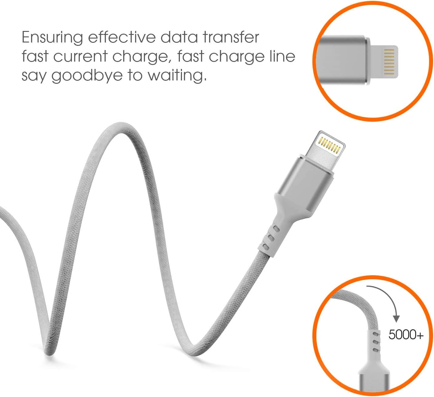 Fabric Nylon Braided Extra Long Fast Charging Cord Boost+ Chargers 3-Pack, Blue Aluminum Alloy Connector Upgraded Data Sync Cable USB Powered